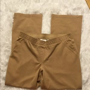Chico's Pull on tan stretchy pants